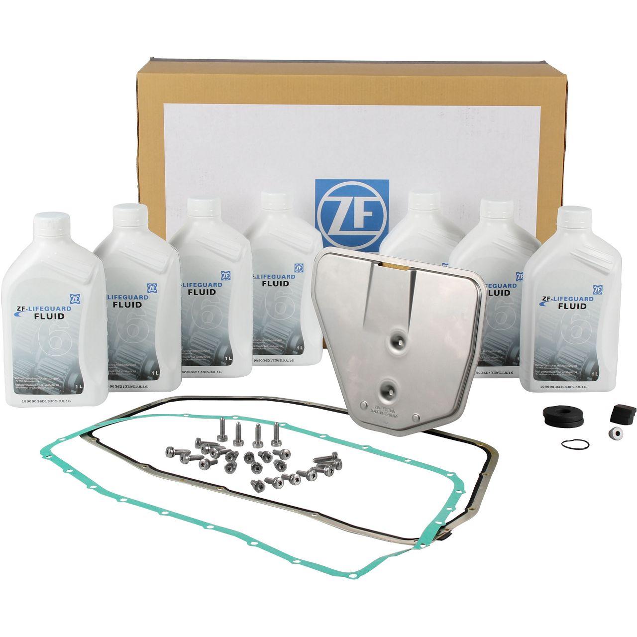 ZF Ölwechsel Satz Automatikgetriebe 6HP26 A61 für AUDI A6 4F C6 A8 4E quattro