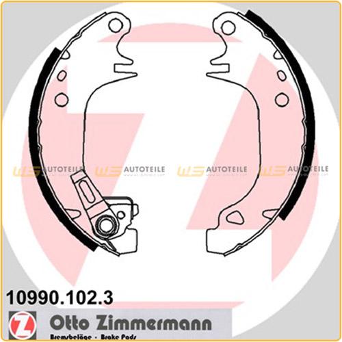 ZIMMERMANN 10990.102.3 Bremsbacken Satz CITROEN AX Saxo PEUGEOT 106 205 309 hinten