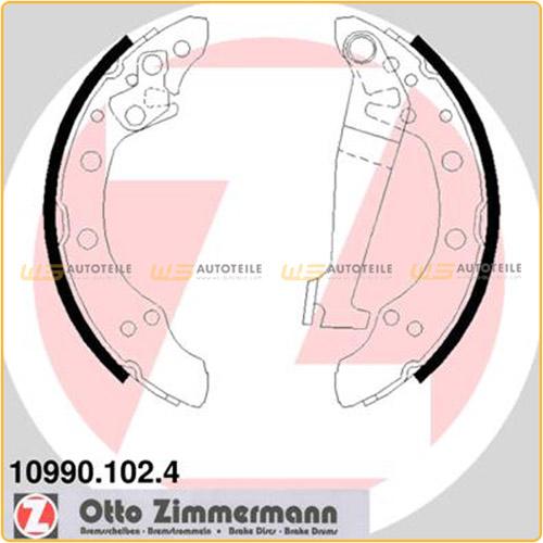 ZIMMERMANN Bremsbacken Satz für Audi 100 80 90 Coupe VW Passat (32 32B 33)
