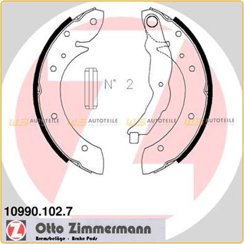 ZIMMERMANN Bremsbacken Satz für BMW 3er E36 316i 318i 318tds ohne ABS