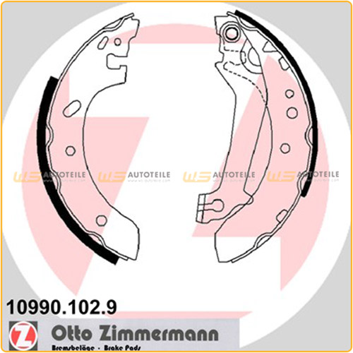 ZIMMERMANN Bremsbacken Satz für Ford Courier Escort VII mit ABS Fiesta Kasten