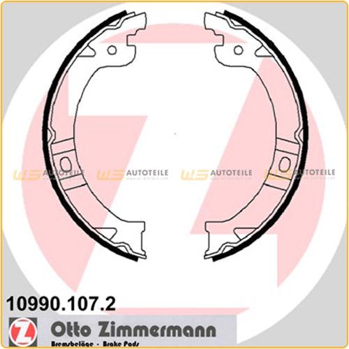 ZIMMERMANN Bremsbacken für Chrysler Voyager IV (RG RS) 2.4 3.3 3.8 2.5/2.8CRD