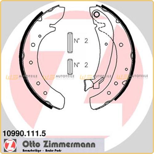 ZIMMERMANN Bremsbacken Satz Jumper Jumpy für Fiat 124 Ducato Scudo Boxer Expert