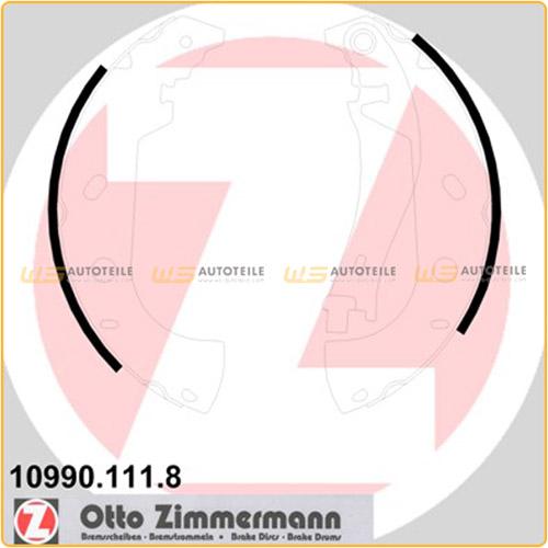 ZIMMERMANN Bremsbacken für Fiat Marea 185 Multipla 186 Palio 178DX Strada 178E