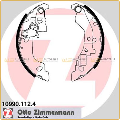 ZIMMERMANN Bremsbacken für Fiat Punto Schrägheck + VAN (188) 1.2/16V 1.9DS/JTD