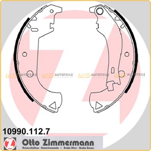 ZIMMERMANN Bremsbacken Satz für Fiat Doblo (119) Doblo Cargo (223) ab 03.2001