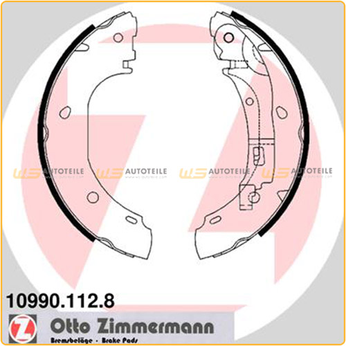 ZIMMERMANN 10990.112.8 Bremsbacken Satz CITROEN Jumper FIAT Ducato PEUGEOT Boxer hinten