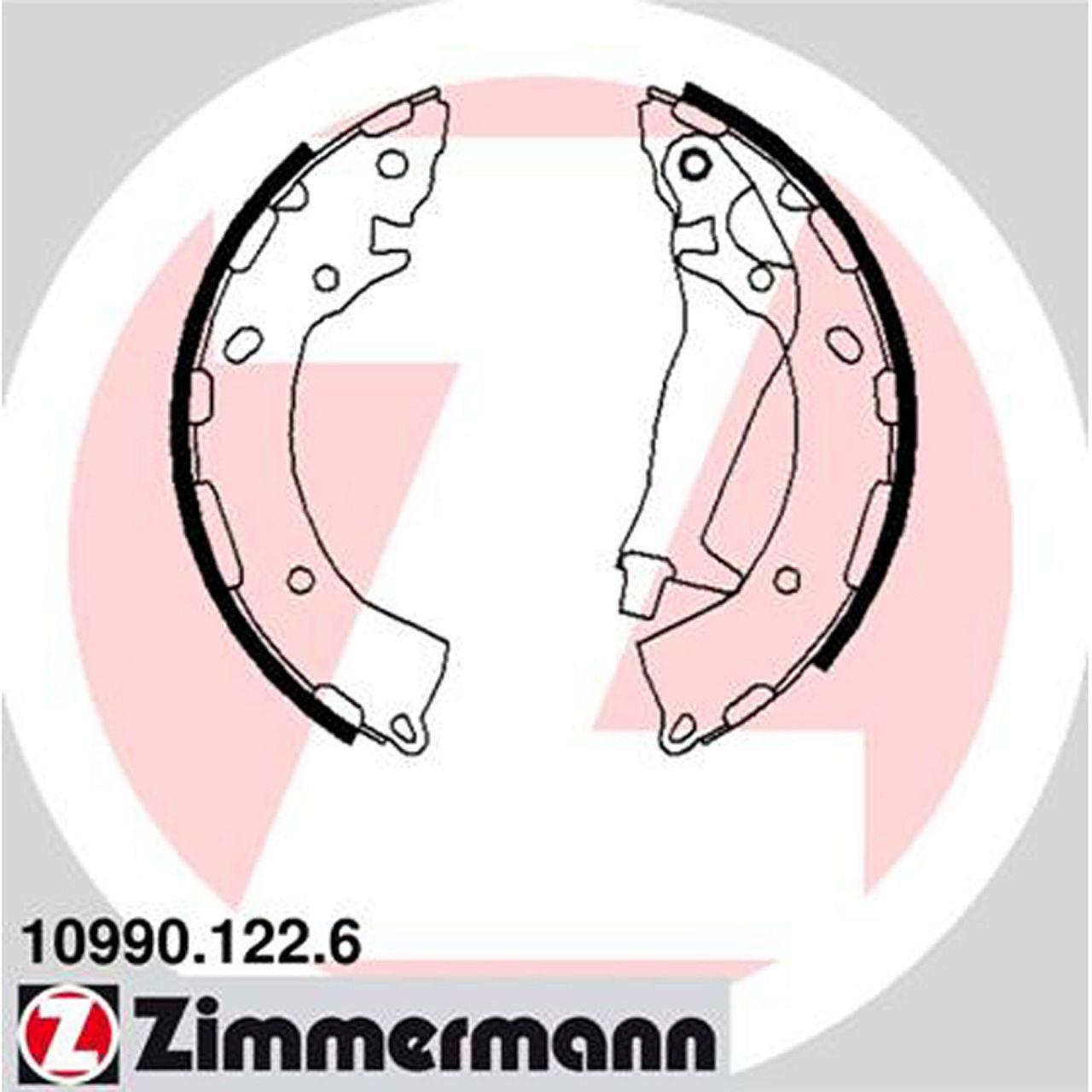 ZIMMERMANN Bremsbacken Satz für Hyundai Getz (TB) 1.1 1.3/i 1.4i 1.5i 1.5CRDi