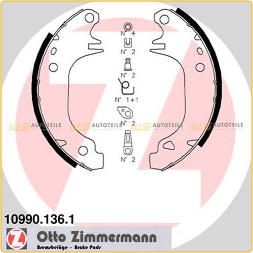 ZIMMERMANN 10990.136.1 Bremsbacken Bremsbackensatz CITROEN AX Saxo PEUGEOT 106 205 hinten