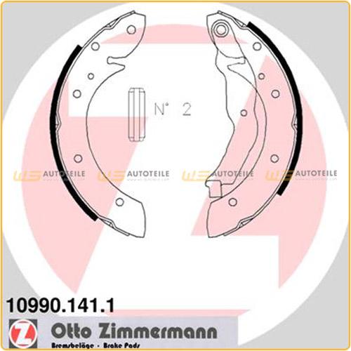 ZIMMERMANN Bremsbacken Satz für Renault Espace II Laguna I Megane Scenic