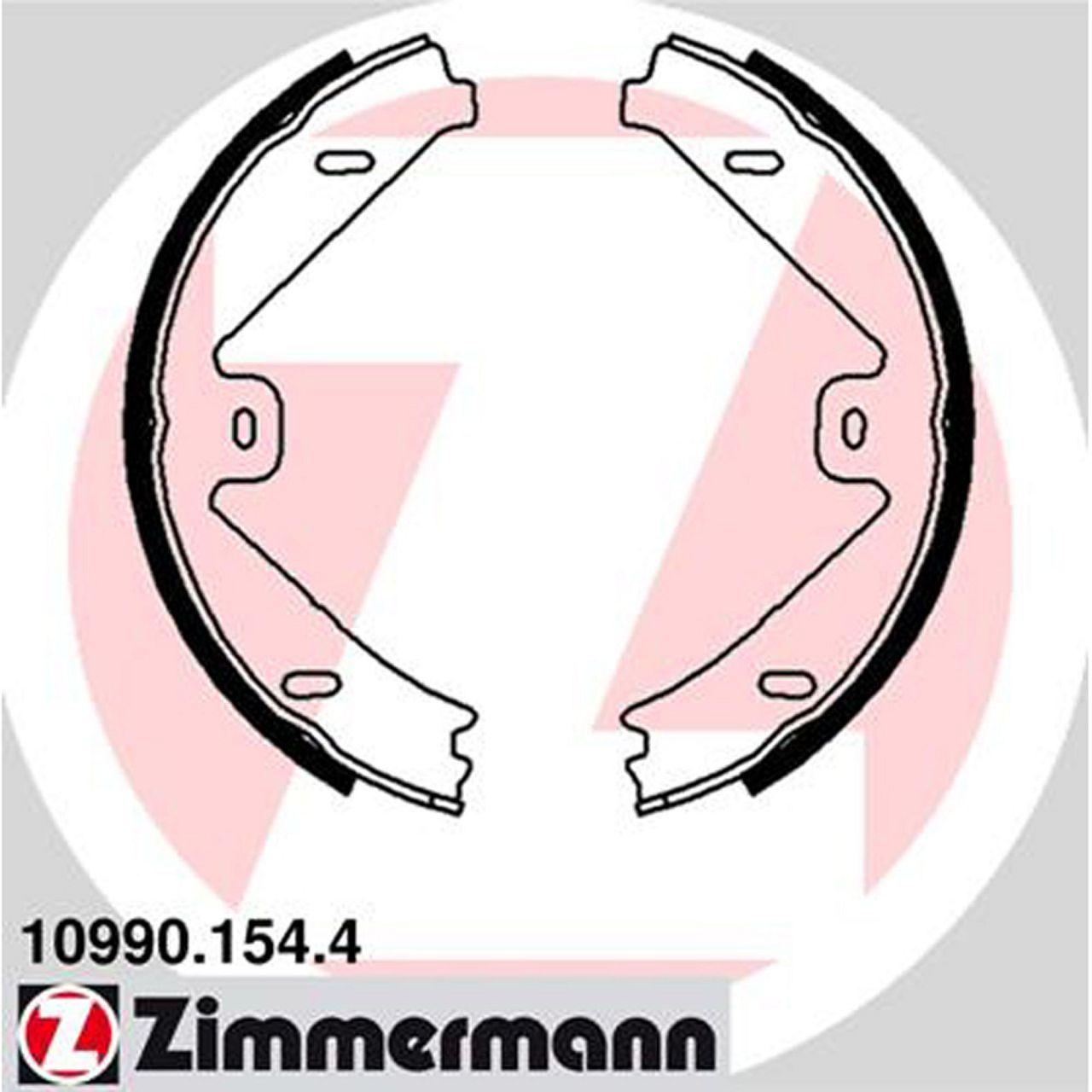 ZIMMERMANN Bremsbacken für MERCEDES C204 C63AMG CLS C/X218 W/S212 X204 hinten