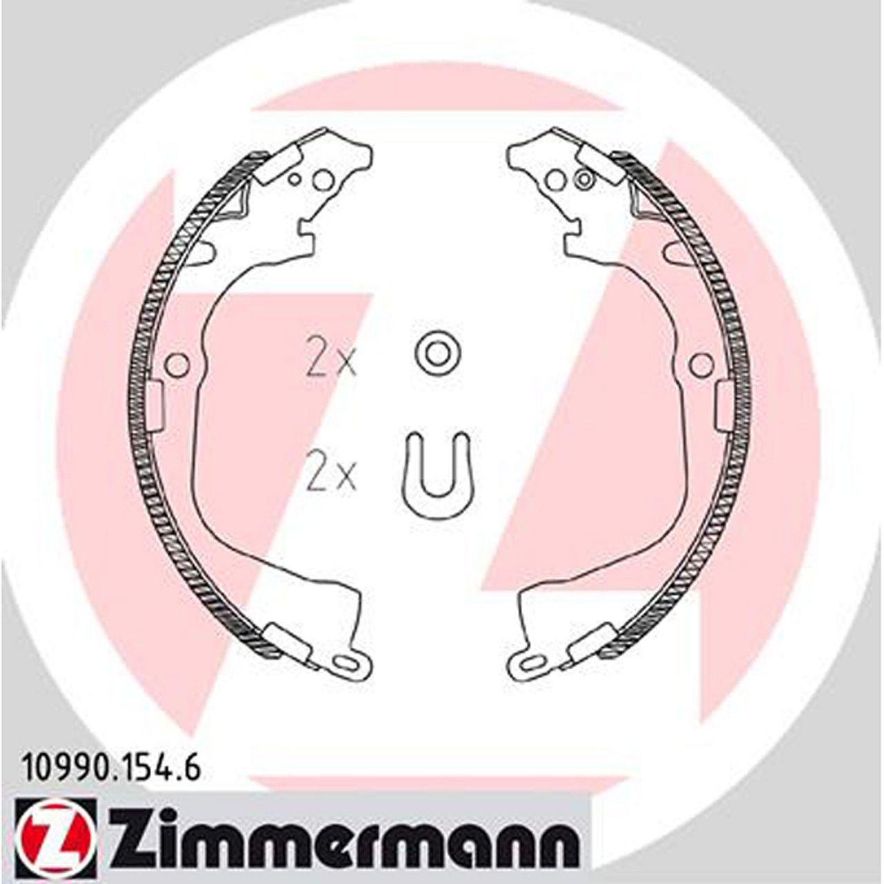 ZIMMERMANN Bremsbacken Satz für VW AMAROK PR-2E3 ab 09.2010 hinten 2H0698525