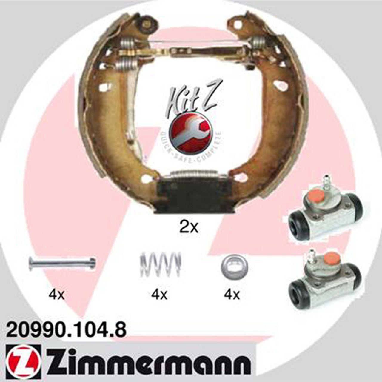 ZIMMERMANN Bremsbacken + Radbremszylinder für Renault Clio I Super 5 Twingo I