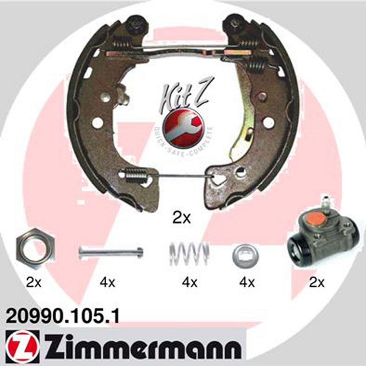 ZIMMERMANN KIT Z Bremsbacken + Radbremszylinder CITROEN AX SAXO PEUGEOT 106 I + II hinten