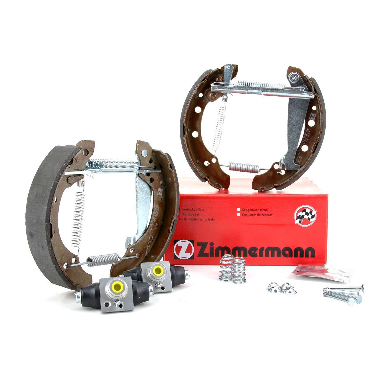 ZIMMERMANN Bremsbacken + Radbremszylinder Satz SEAT Ibiza 3 VW Polo 9N