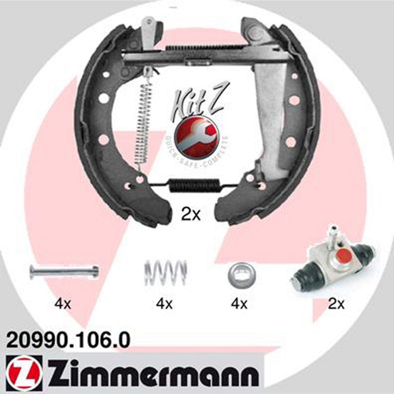 ZIMMERMANN Bremsbacken + Radbremszylinder für Audi 80 A2 Arosa Golf Polo Vento