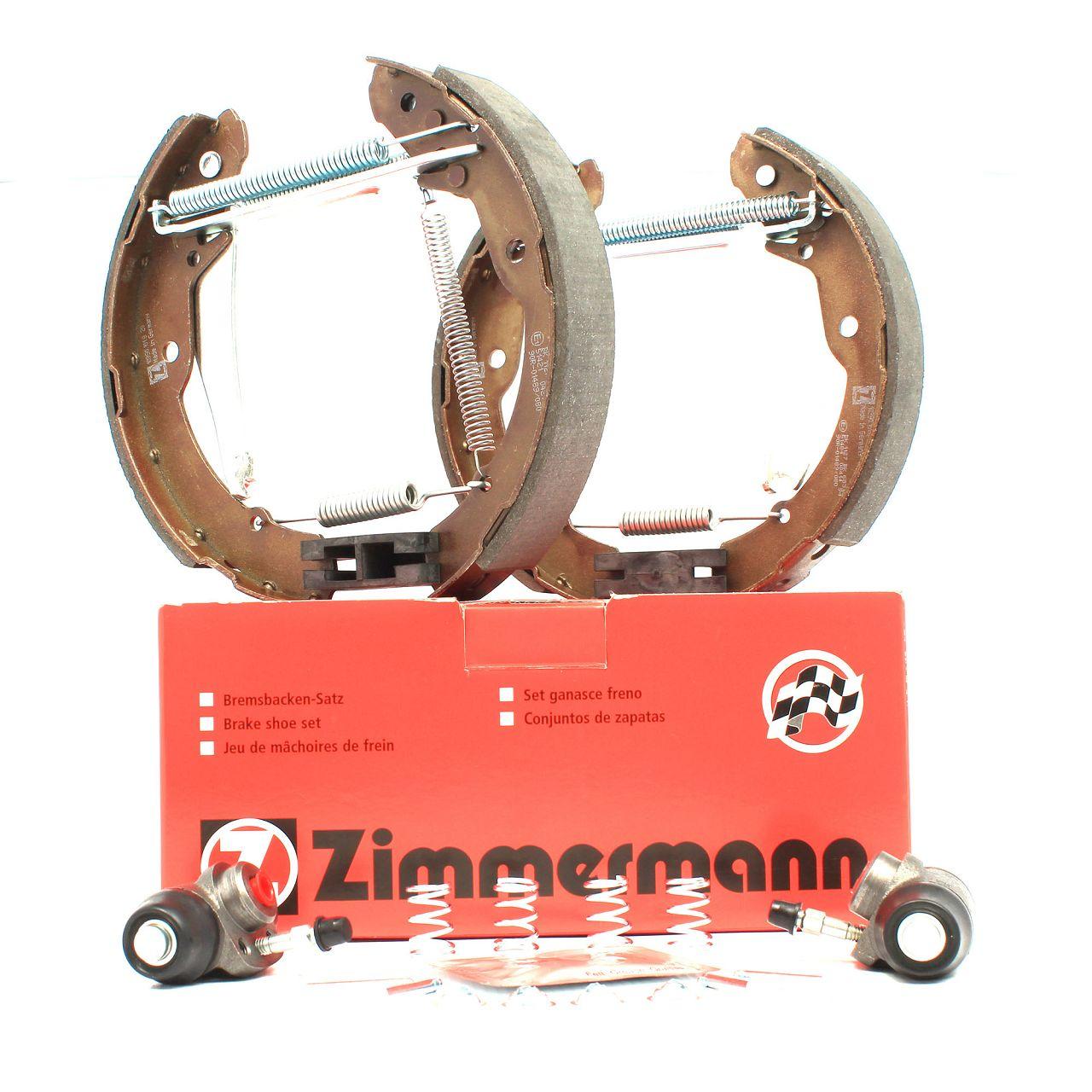 ZIMMERMANN Bremsbacken + Radbremszylinder Satz SKODA Octavia 2 (1U) Roomster (5J)