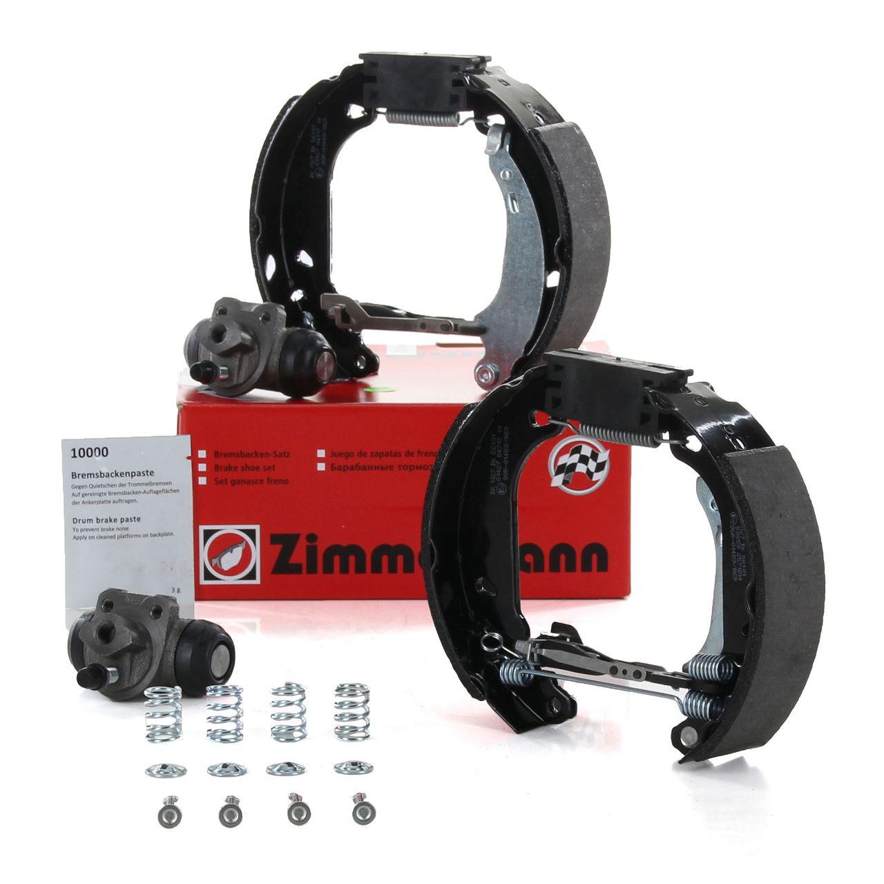 ZIMMERMANN Bremsbacken + Radbremszylinder Satz DACIA Logan RENAULT Clio ohne ABS