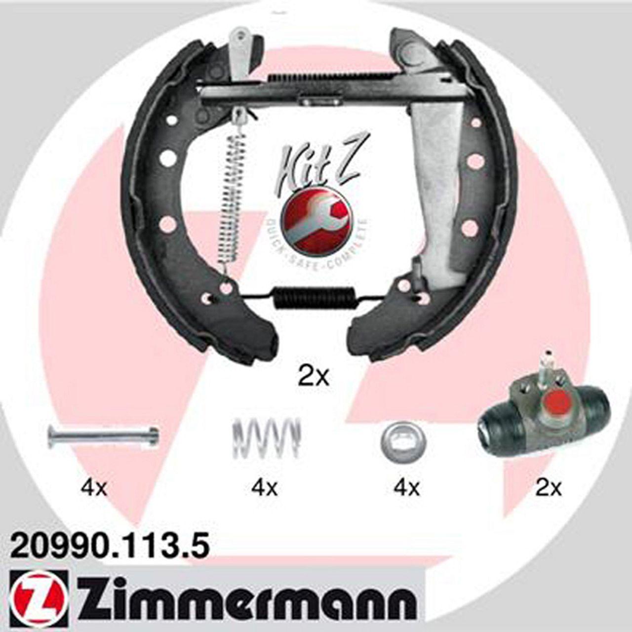 ZIMMERMANN Bremsbacken + Radbremszylinder für Skoda Felicia I II (6U) 1.6 1.9D