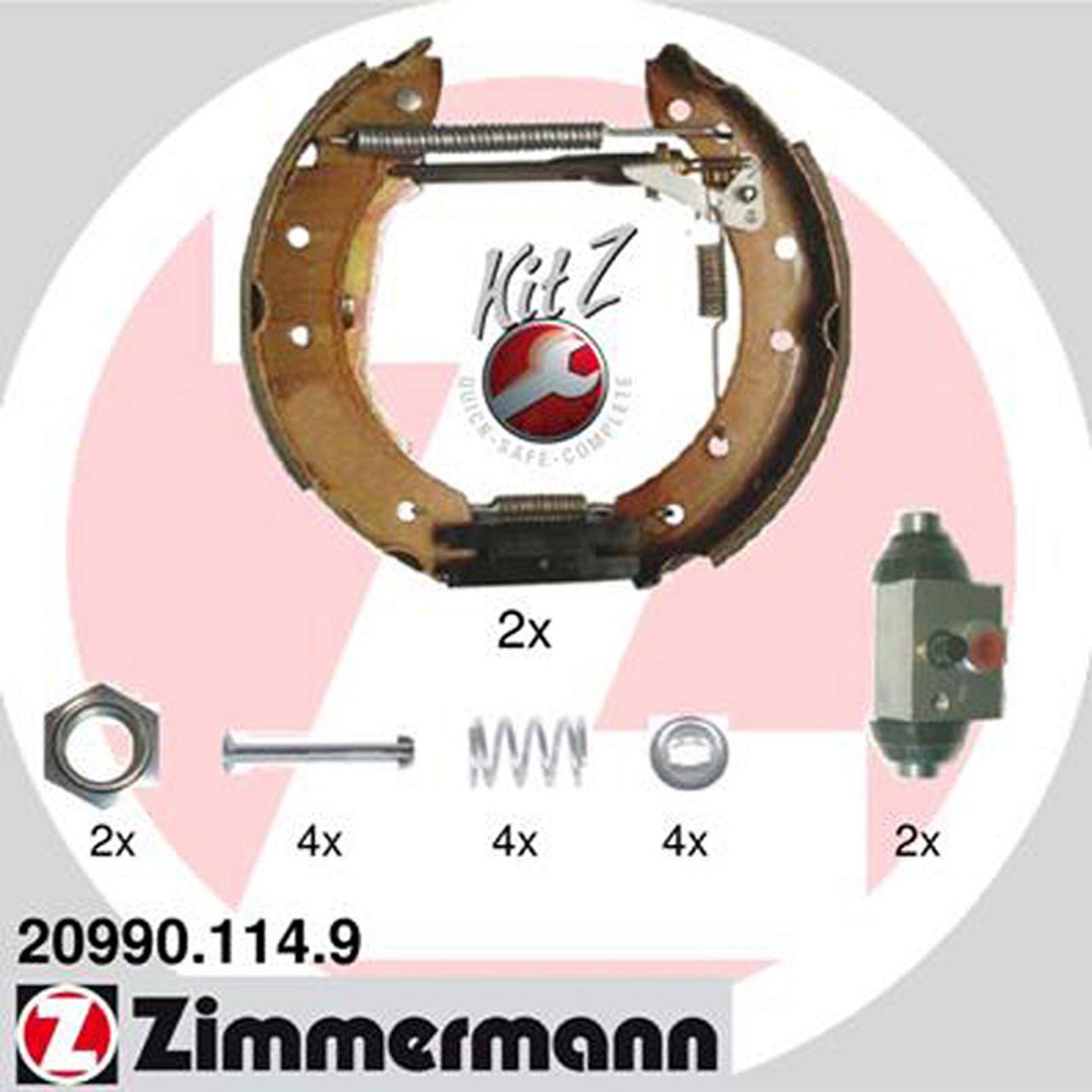 ZIMMERMANN Bremsbacken + Radbremszylinder Satz Saxo Xsara 106 II 206 306