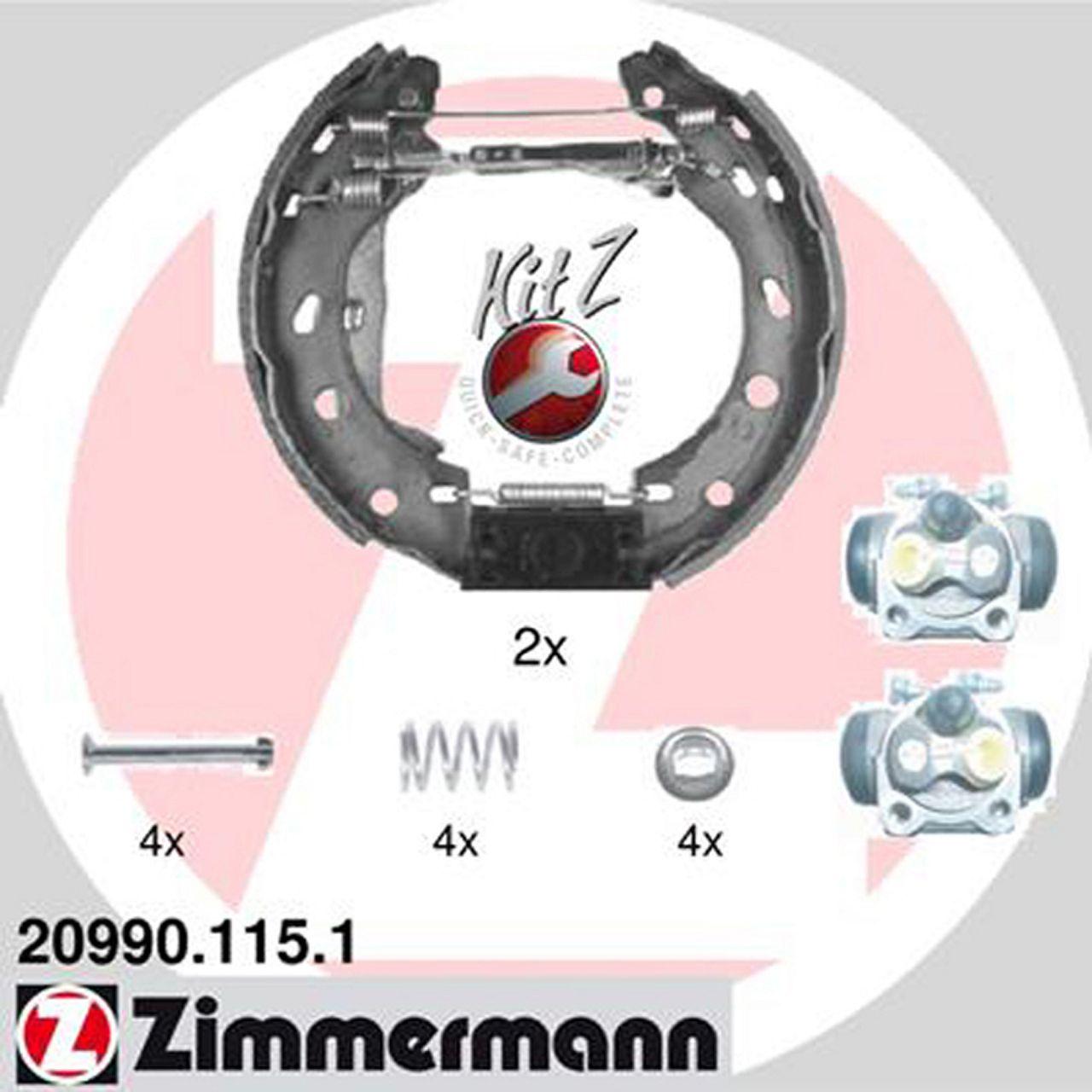 ZIMMERMANN Bremsbacken + Radbremszylinder für Smart Cabrio City-Coupe ForTwo