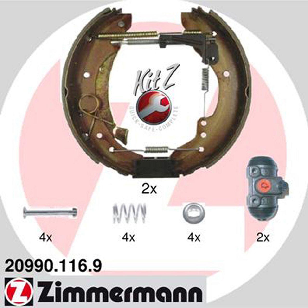 ZIMMERMANN Bremsbacken + Radbremszylinder Satz Jumper Ducato Boxer bis 08.2001