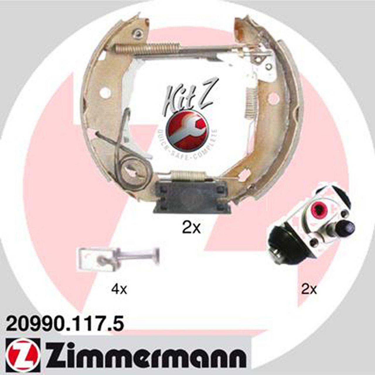 ZIMMERMANN Bremsbacken + Radbremszylinder für Mercedes W168 ab 08.1998 ab Fgst