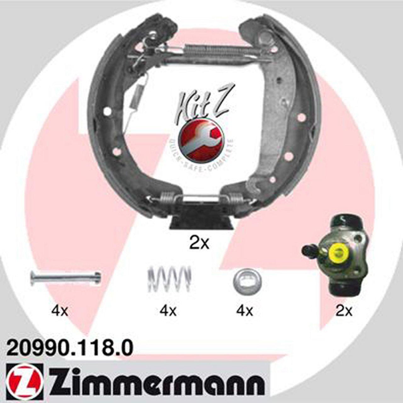 ZIMMERMANN Bremsbacken + Radbremszylinder Satz für Opel Astra G ab Fgst. Combo