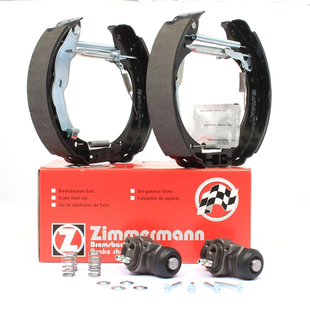 ZIMMERMANN Bremsbacken + Radbremszylinder Satz BMW 3er E36 Limousine / Coupe