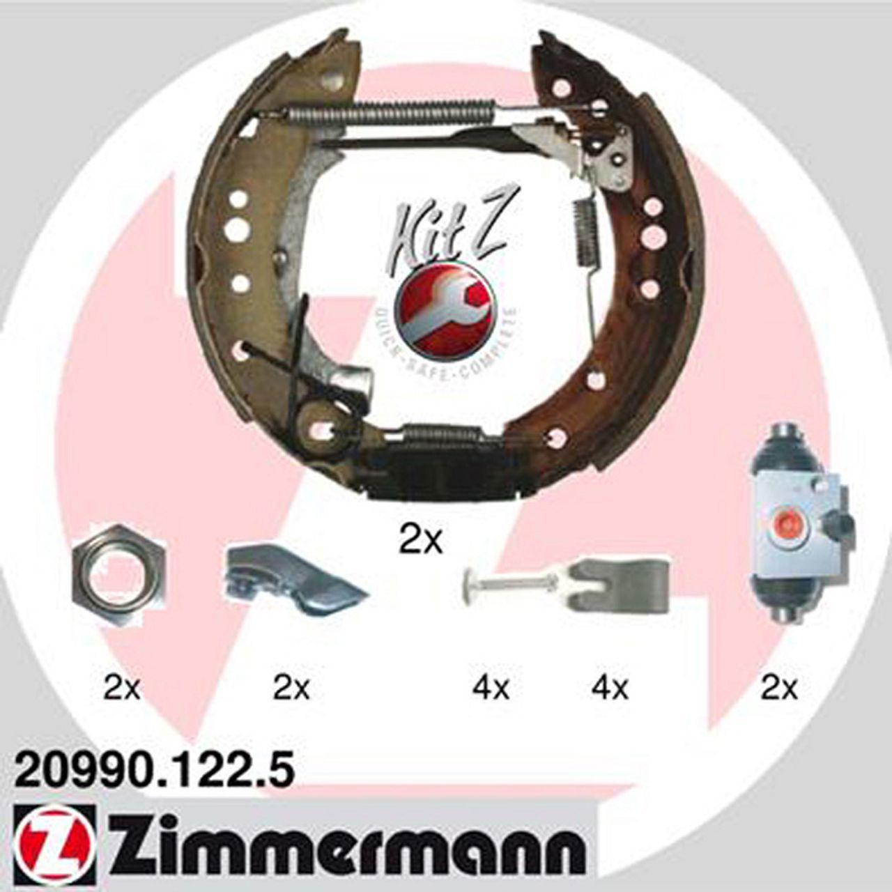ZIMMERMANN KIT Z Bremsbacken + Radbremszylinder Satz CITROEN C2 C3 PEUGEOT 1007 hinten