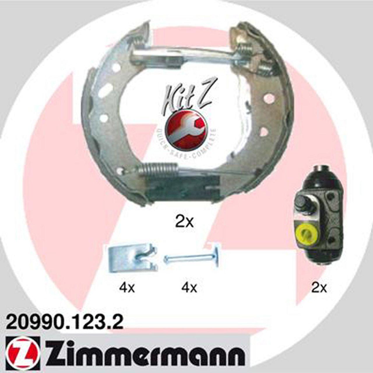 ZIMMERMANN Bremsbacken + Radbremszylinder für Ford Fiesta IV Puma Mazda 121 III