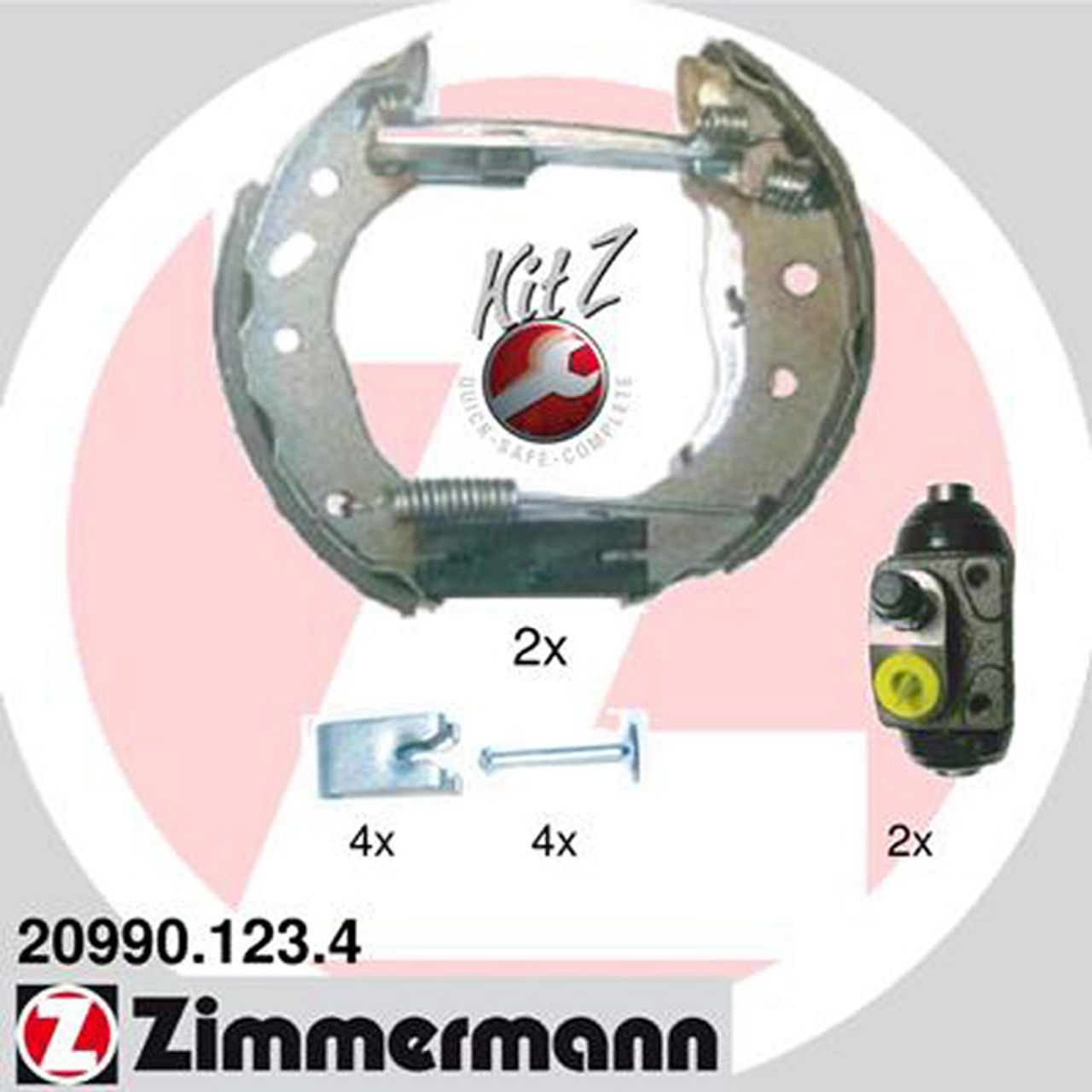 ZIMMERMANN Bremsbacken + Radbremszylinder für Ford Escort Fiesta KA Mazda 121