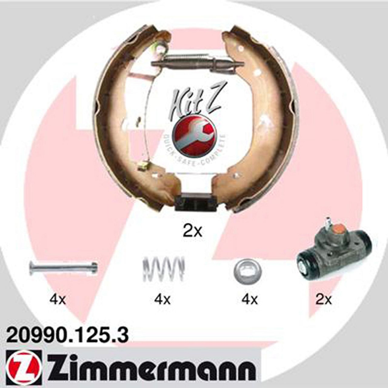 ZIMMERMANN Bremsbacken + Radbremszylinder Satz für Ford Transit 01.2000-05.2006