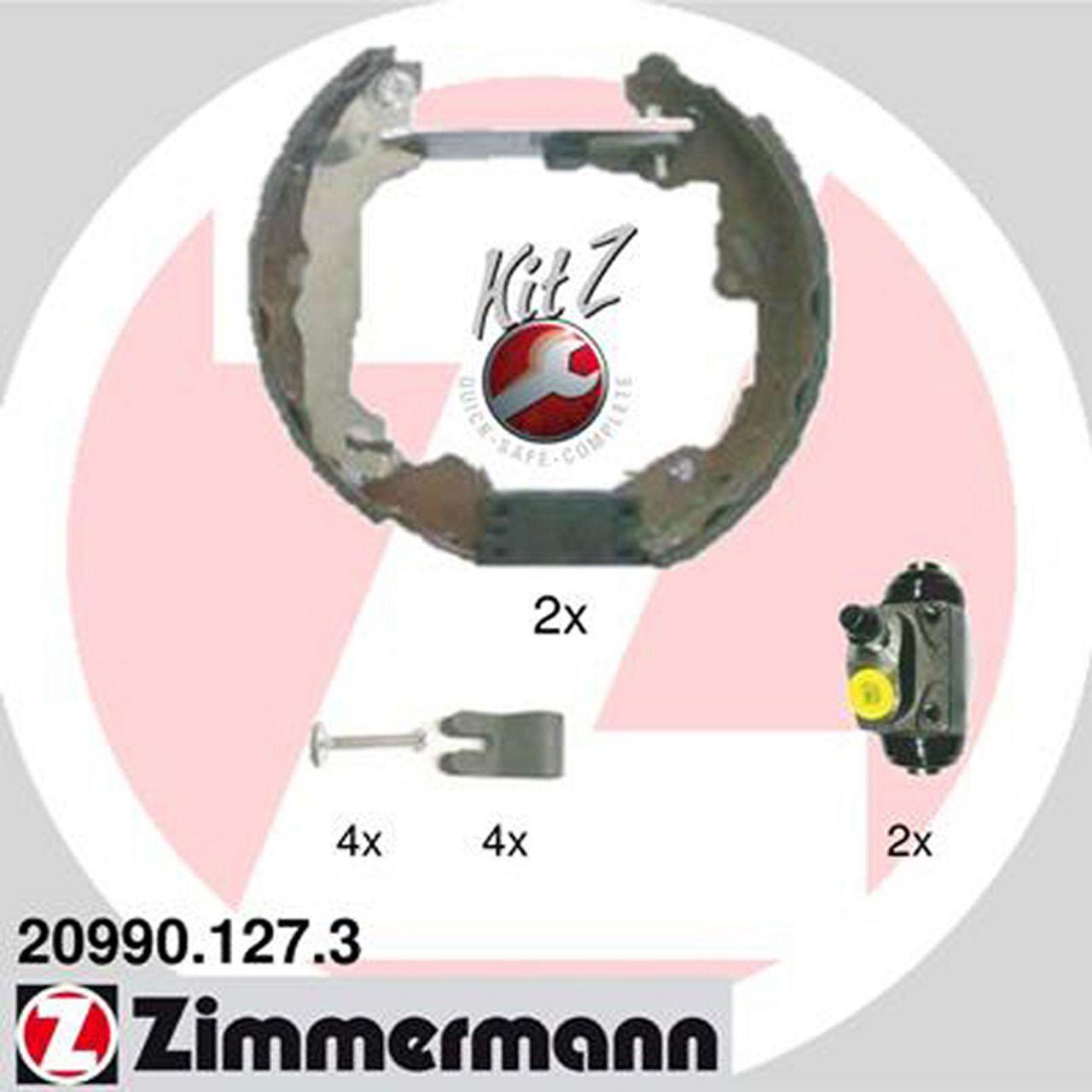 ZIMMERMANN Bremsbacken + Radbremszylinder Satz für Ford Focus I 10.1998-09.2004