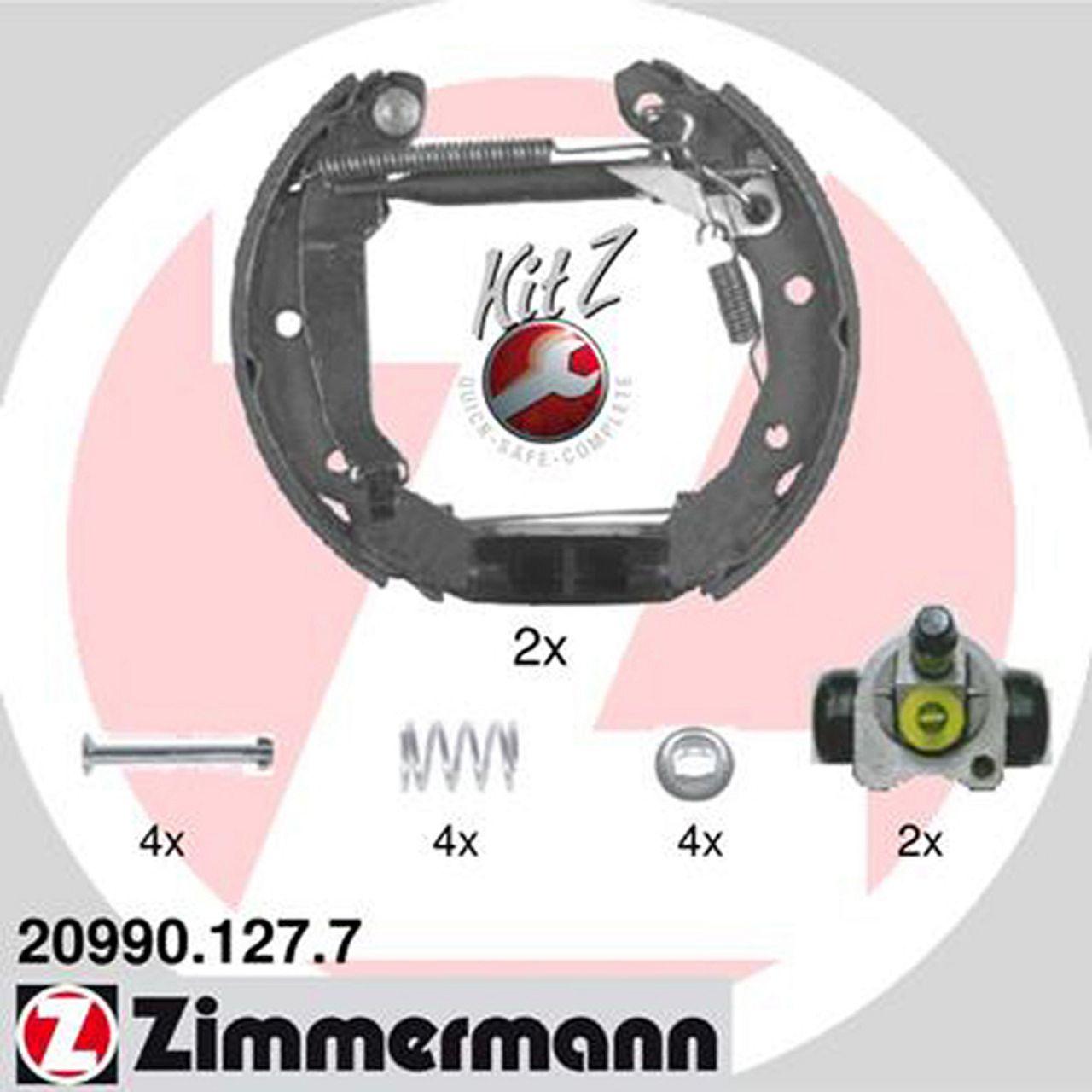 ZIMMERMANN Bremsbacken + Radbremszylinder Satz für Chevrolet Daewoo Matiz Spark