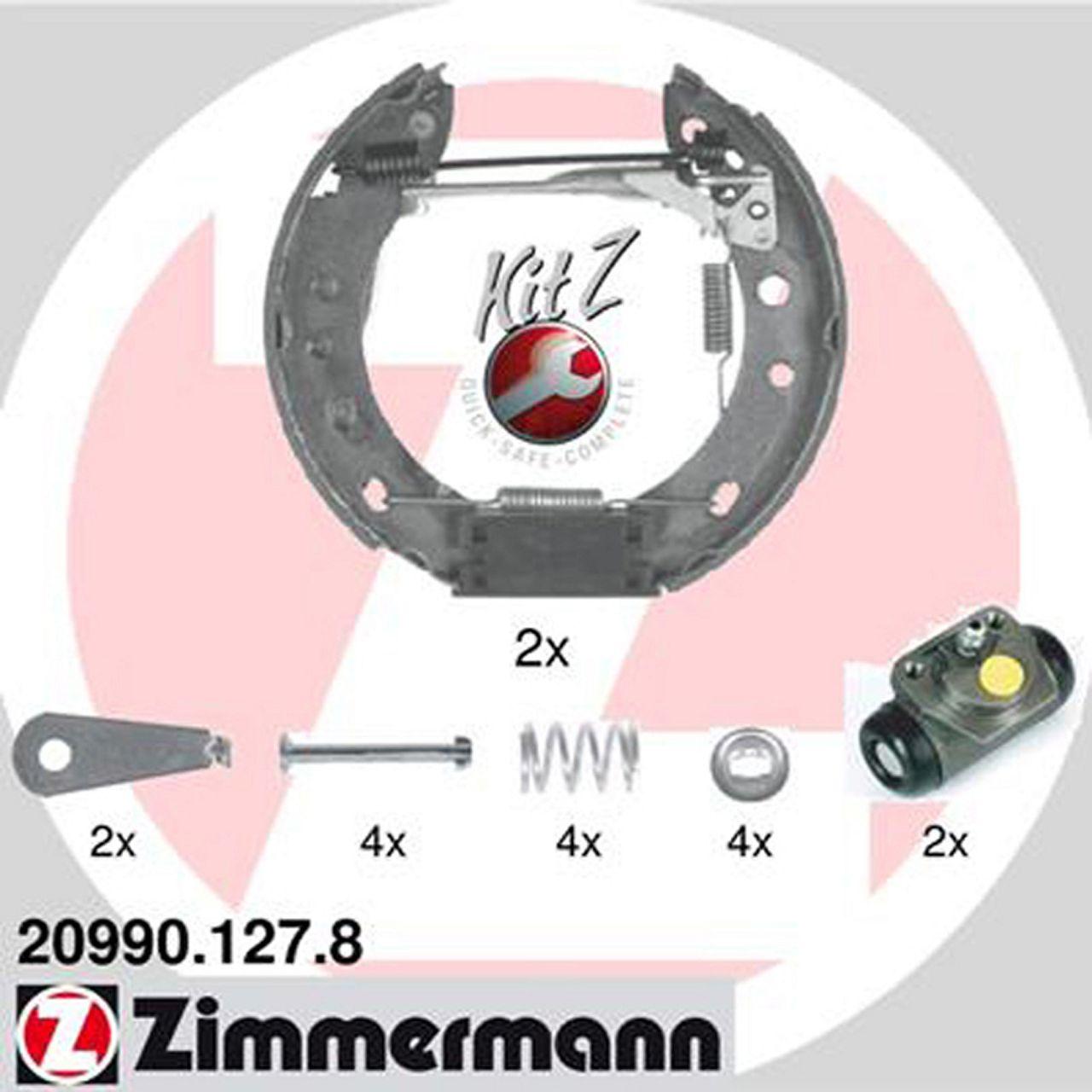 ZIMMERMANN Bremsbacken + Radbremszylinder für Nissan Micra II (K11) ohne ABS
