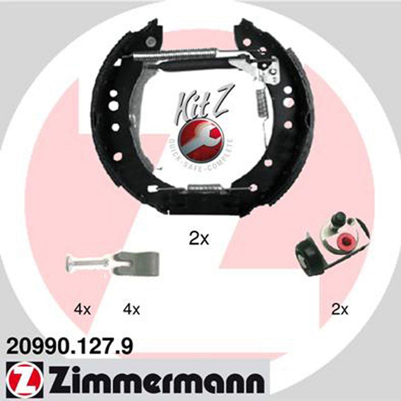 ZIMMERMANN Bremsbacken + Radbremszylinder für Mitsubishi Colt VI Smart ForFour