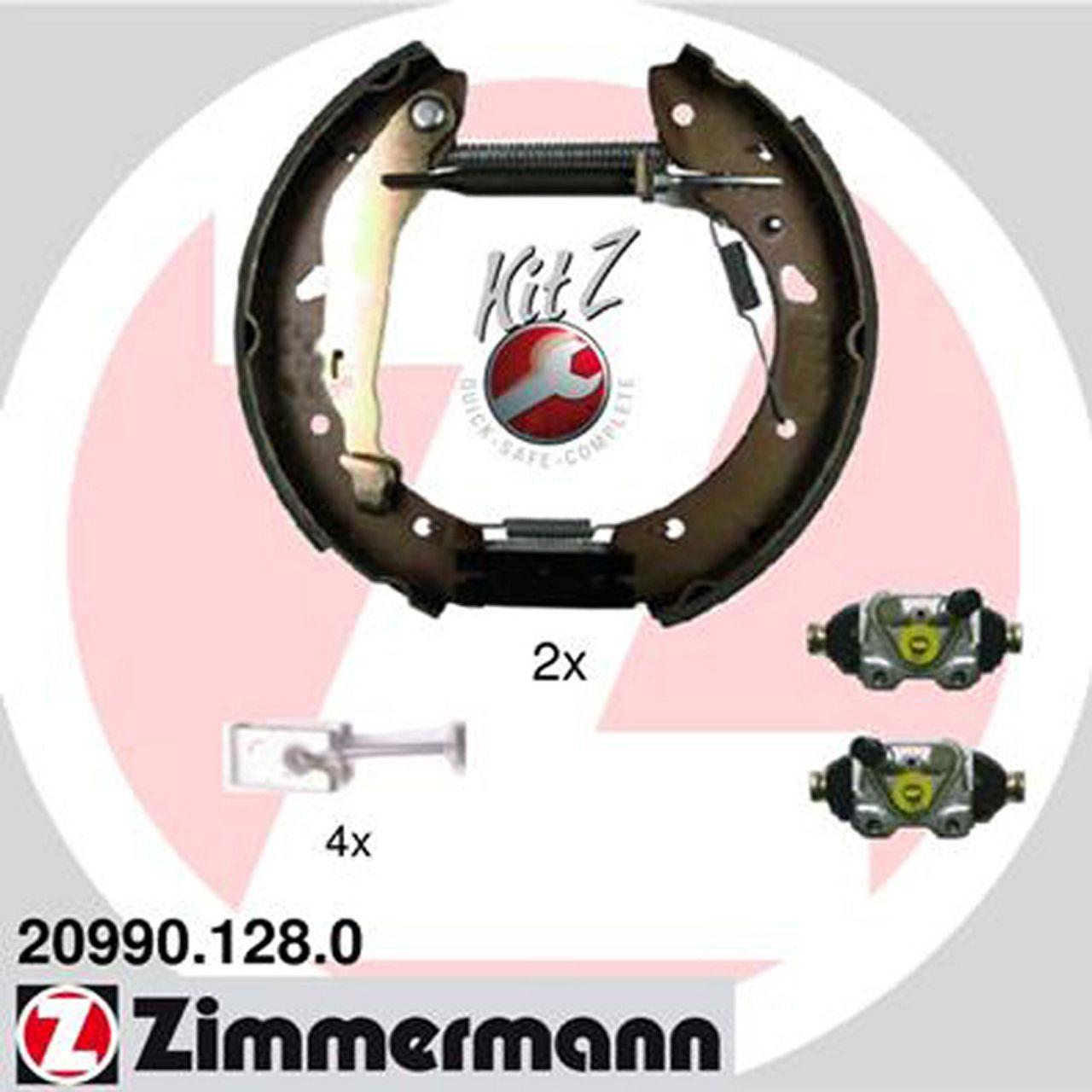 ZIMMERMANN Bremsbacken + Radbremszylinder für Toyota Avensis (T22) bis 09.2000