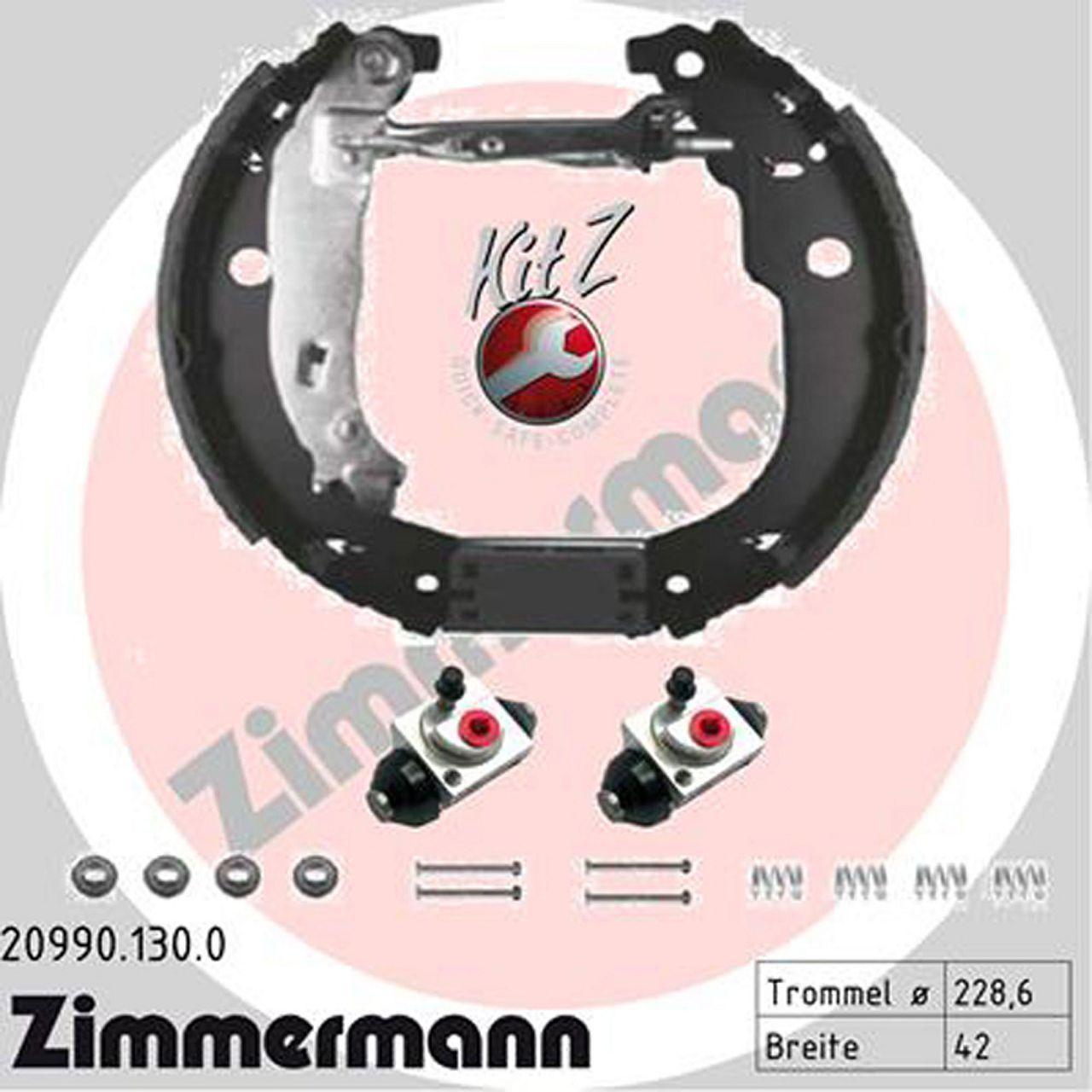 ZIMMERMANN 20990.130.0 Bremsbacken + Radbremszylinder PEUGEOT DS3 PEUGEOT 207 / SW hinten