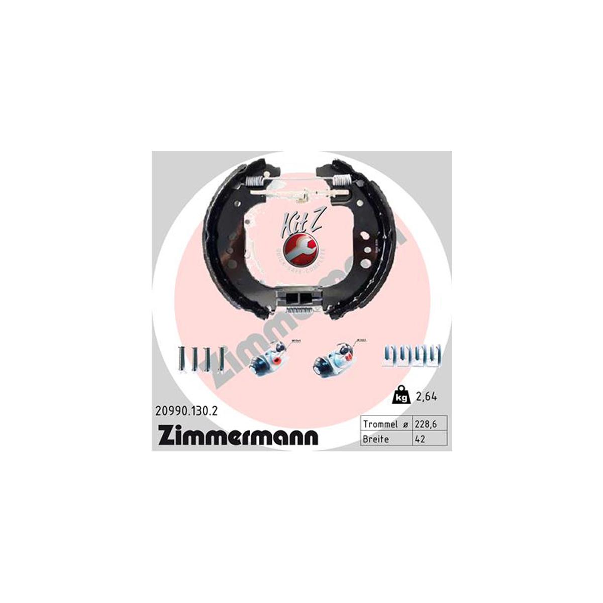 ZIMMERMANN Bremsbacken + Radbremszylinder Satz RENAULT Twingo 3 (BCM_) 0.9 TCe 1.0 SCe