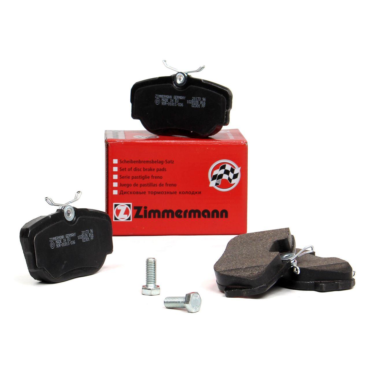ZIMMERMANN Bremsbeläge Bremsklötze für BMW 3er E30 315-325 324d/td Z1 2.5 vorne