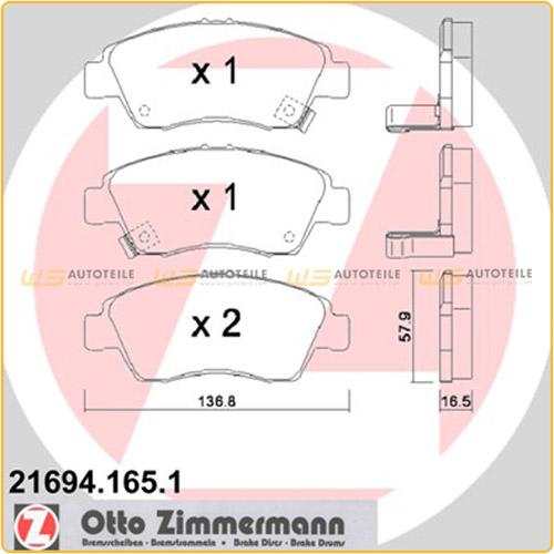 Zimmermann SPORT Bremsscheiben Beläge HONDA Civic 5 CRX 3 1.6 125 160 PS vorne