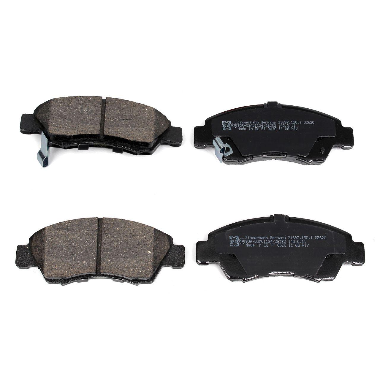 ZIMMERMANN Bremsen Bremsscheiben + Beläge für HONDA CIVIC V VI 1.4 1.5 1.6 vorne