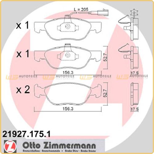 Zimmermann SPORT Bremsscheiben Beläge Wako FIAT Marea 185 LANCIA Delta 2 vorne