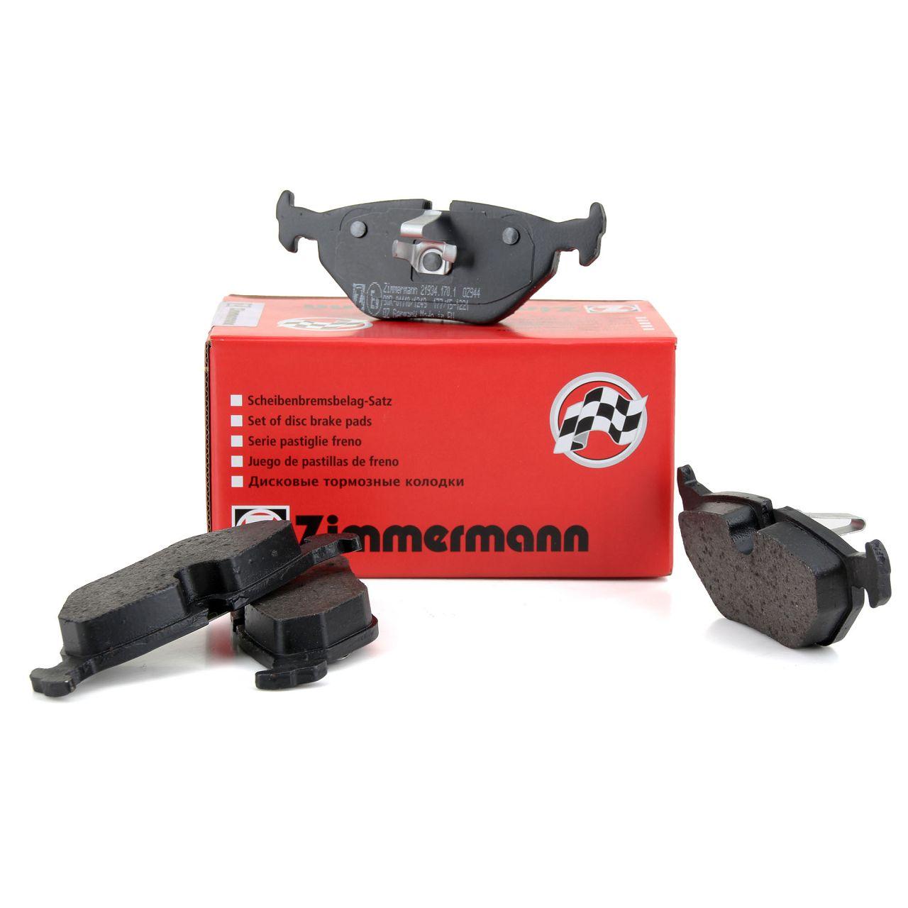 ZIMMERMANN Bremsbeläge BMW 3er E46 318-328i 318/320d Z4 E85 E86 2.0-3.0 si hinten