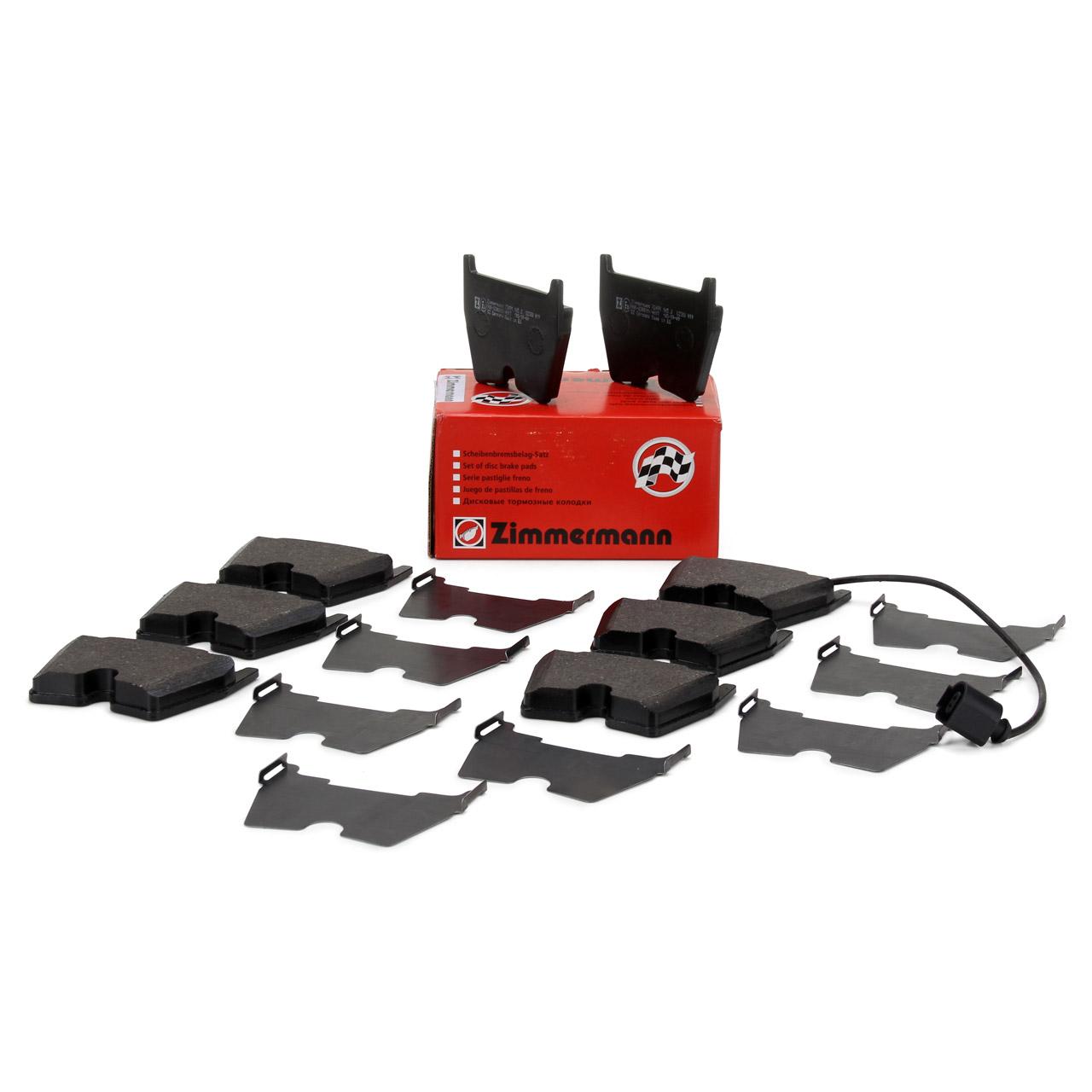 ZIMMERMANN Bremsbeläge + Warnkontakt AUDI RS3 (8V) RSQ3 (8U) TTRS (FV) vorne