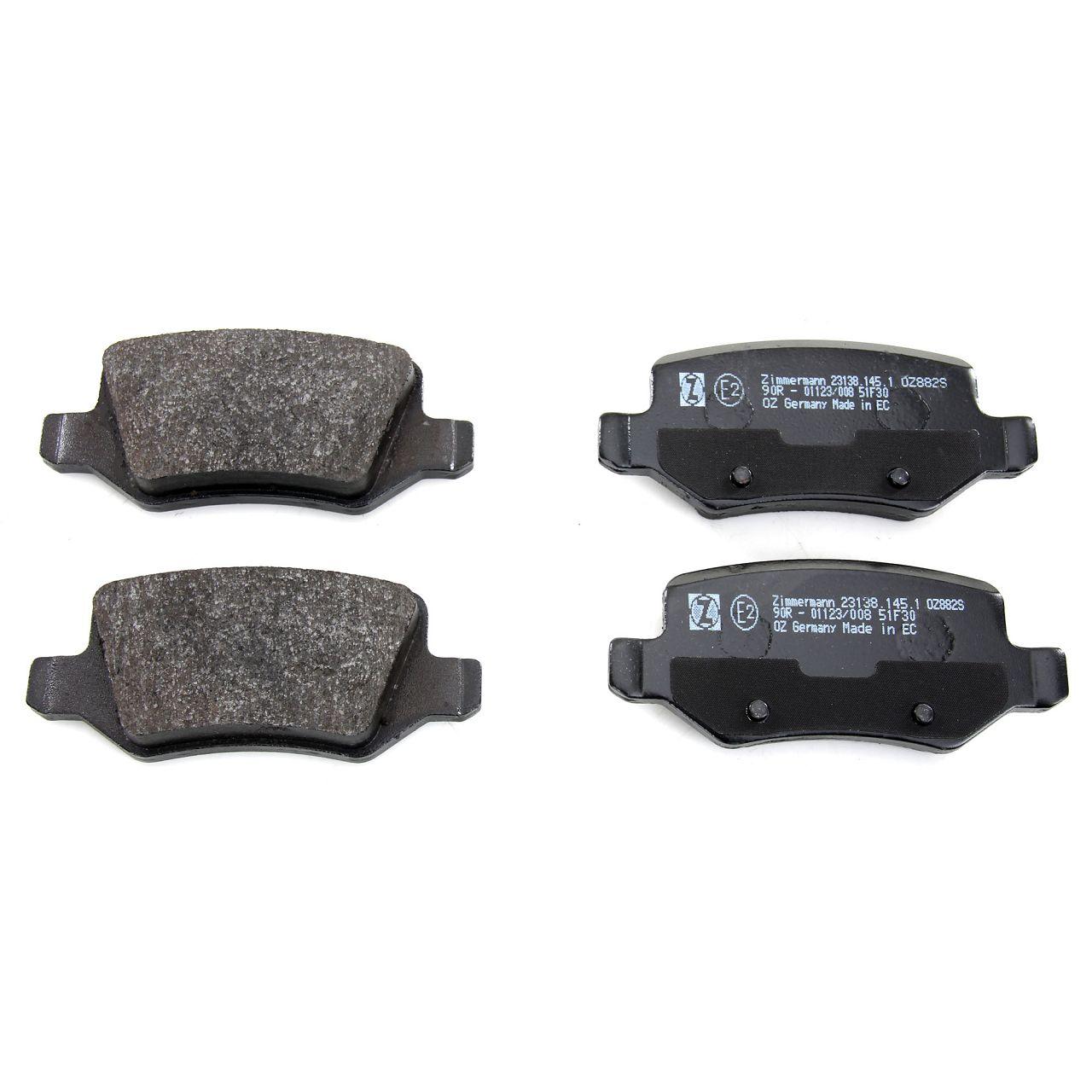 ZIMMERMANN Bremsscheiben Beläge MERCEDES W168 A160-210 A170CDI Vaneo 414 hinten