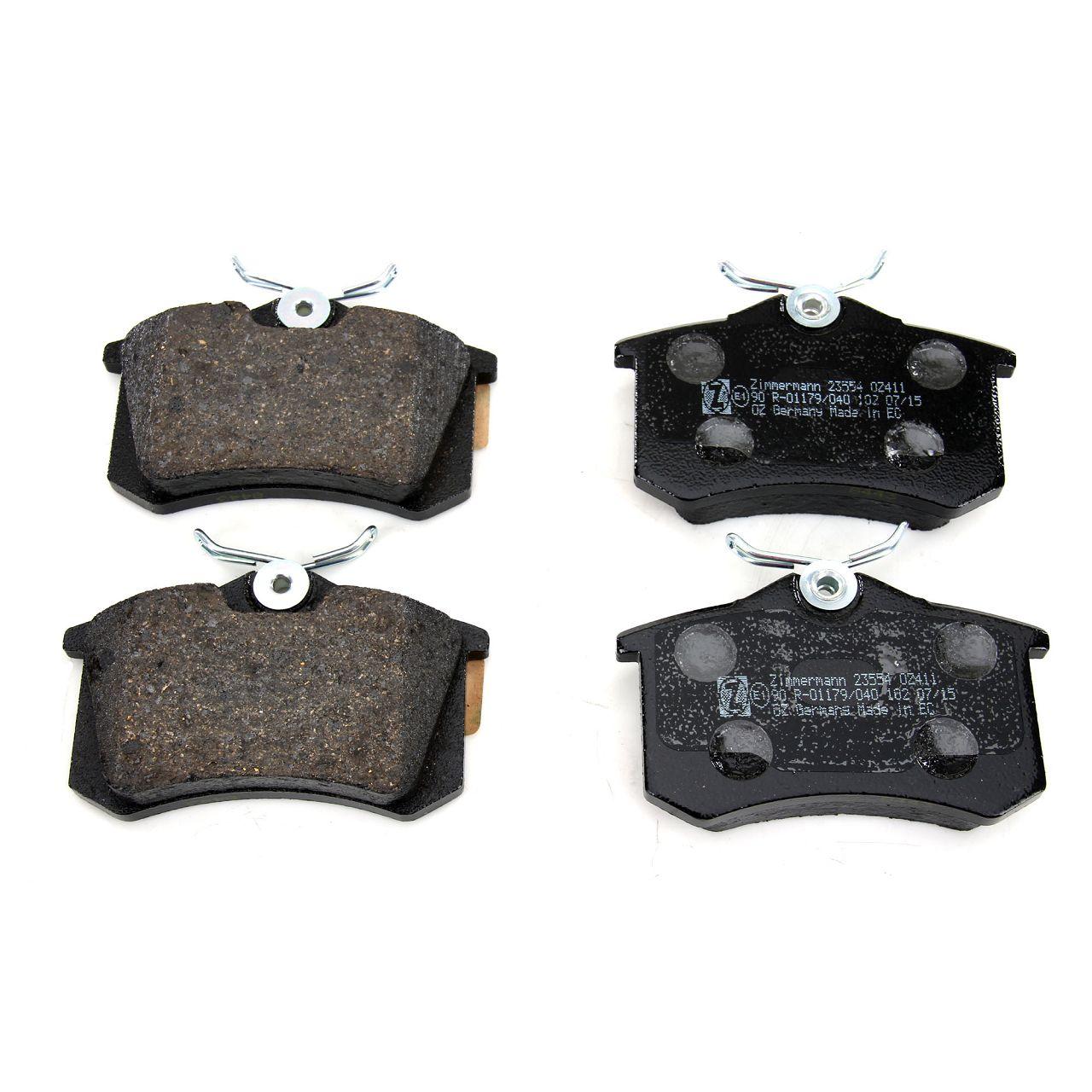 ZIMMERMANN Bremsscheiben + Beläge für AUDI A4 (8E B6 B7) SEAT EXEO (3R) hinten