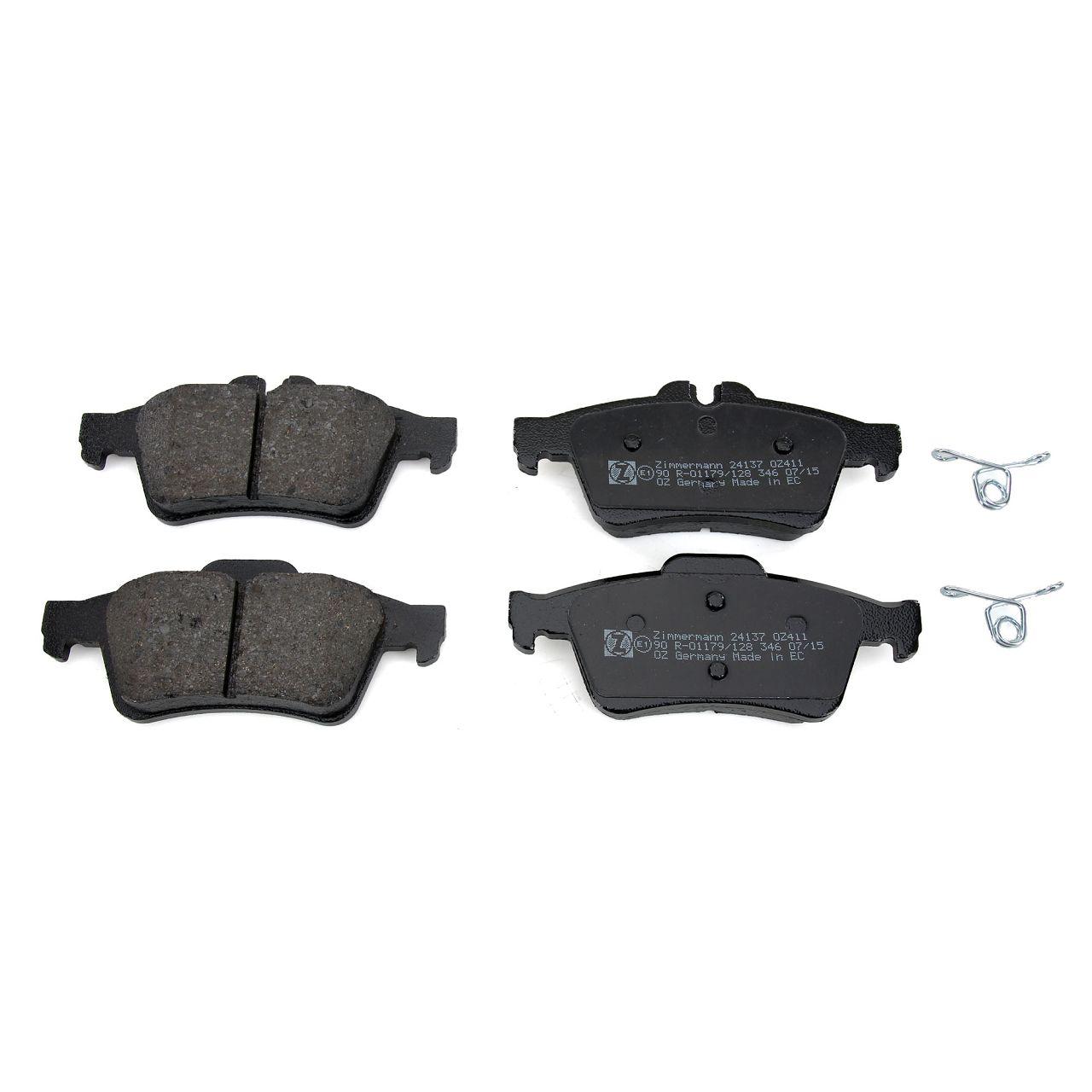 ZIMMERMANN Bremsen Bremsscheiben + Beläge für Mazda 5 (CR19 CW) 16 Zoll hinten