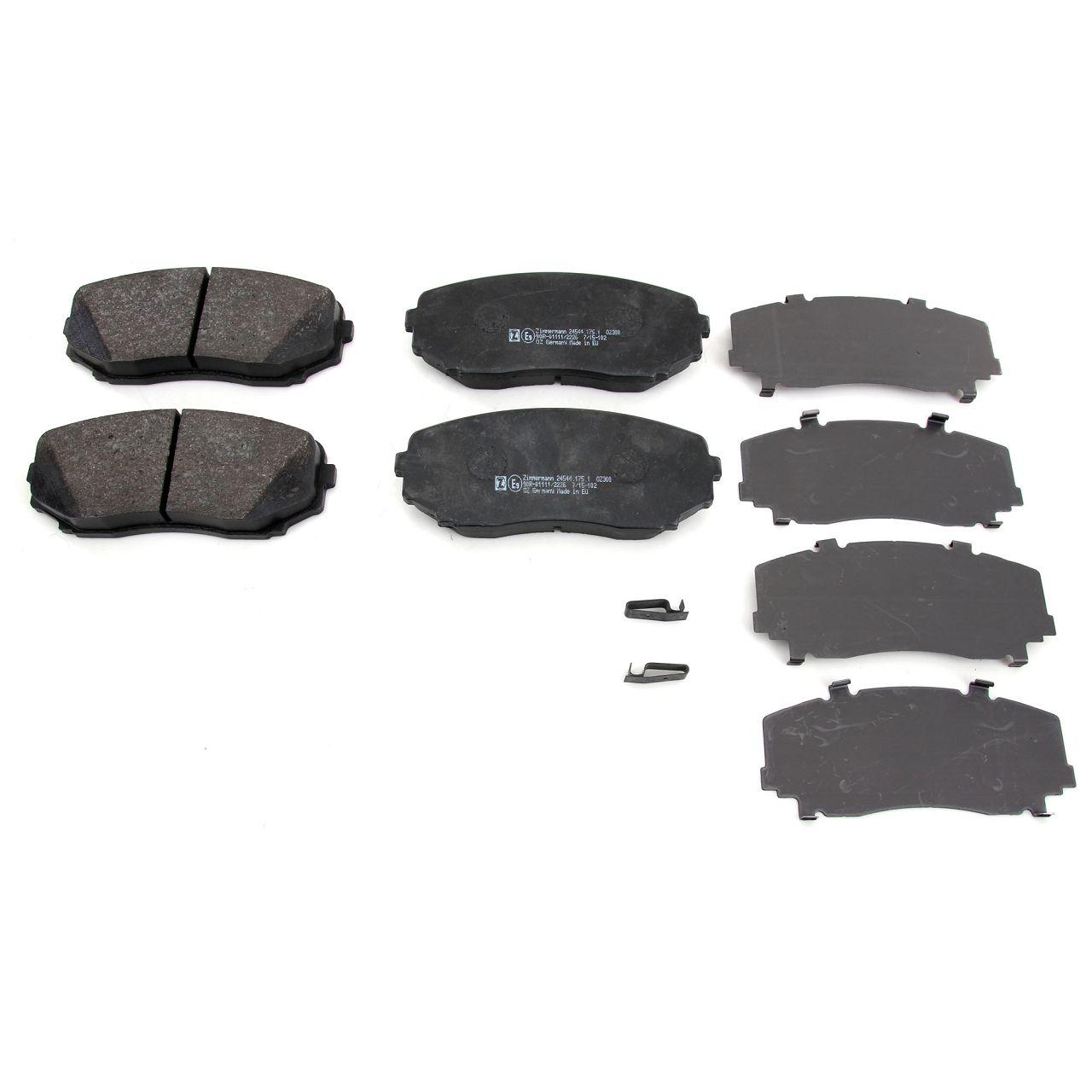 ZIMMERMANN Bremsen Bremsscheiben + Bremsbeläge + Wako für Mazda CX-7 (ER) vorne